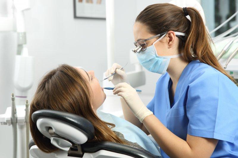 Patient at dentist